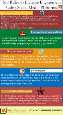 Top rules to increase engagement using Social Media Platforms