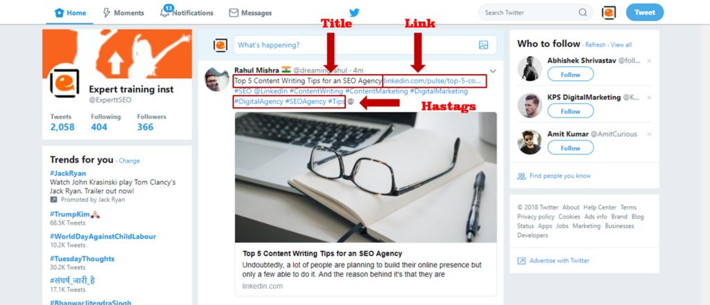 Twitter promotion techniques