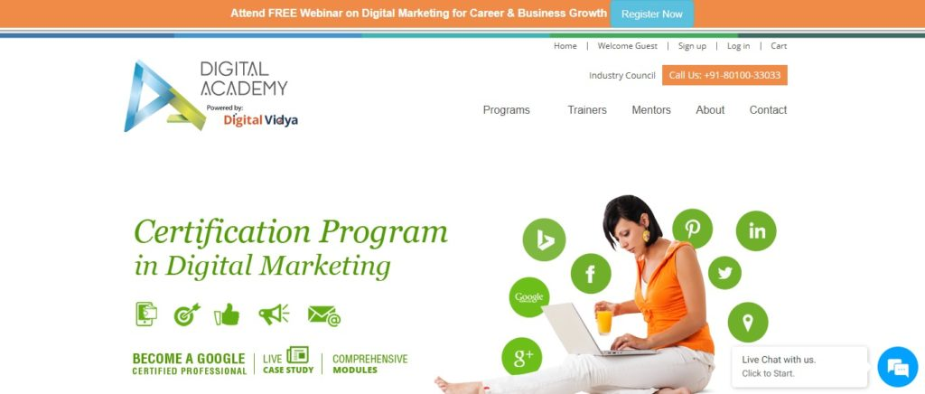 advanced digital marketing course institutes