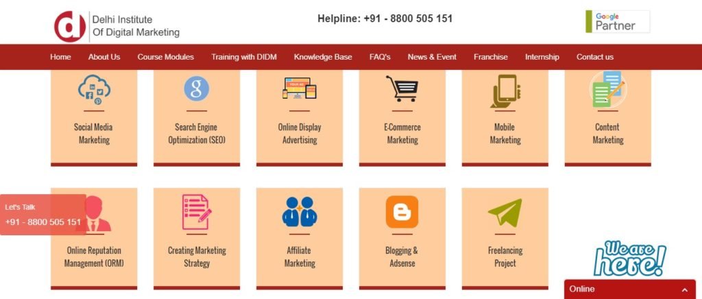 best institute for digital marketing course in delhi