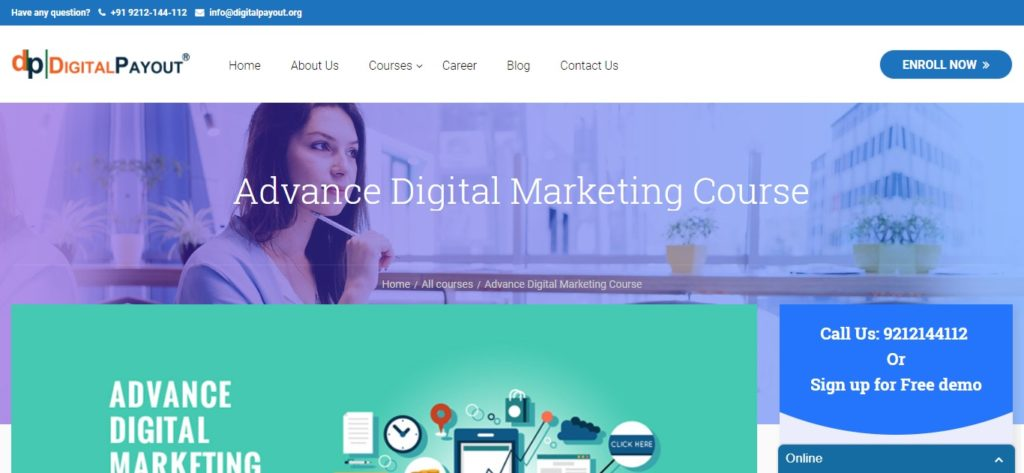 digital marketing course details