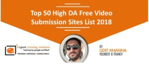 High DA 50 Free Video Submission Sites List 2019 [Dofollow and Updated]