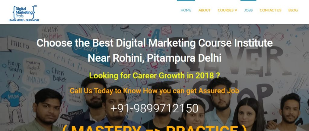 Advanced digital marketing course institutes in Rohini