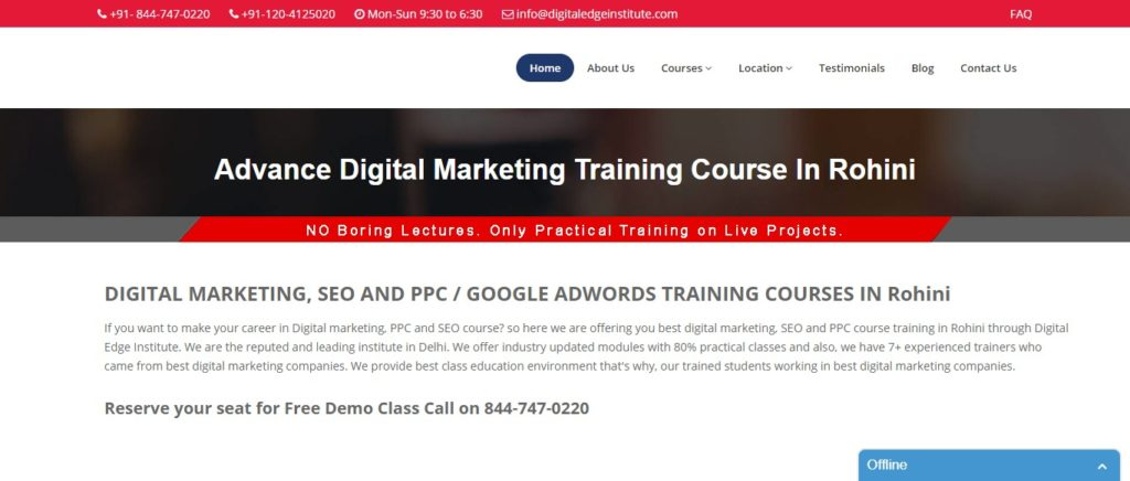 Digital marketing institutes in Rohini