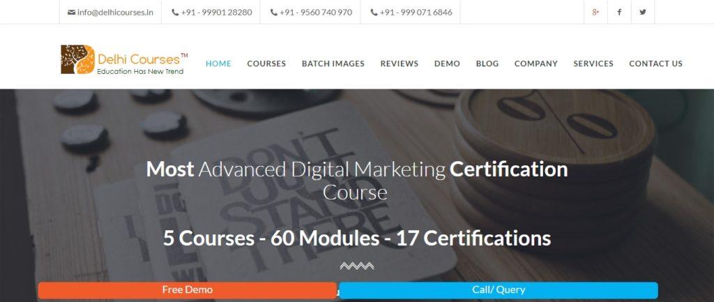 advanced digital marketing course institutes in Pitampura
