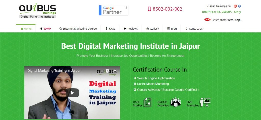 Advanced digital marketing course institutes in Jaipur