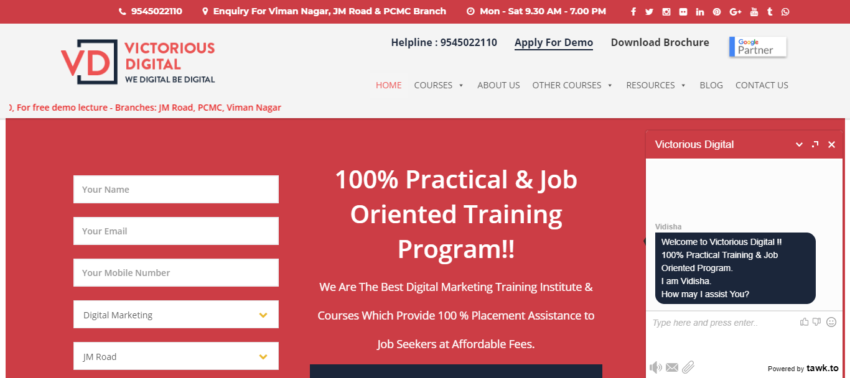 List of top 10 digital marketing institute in Pune