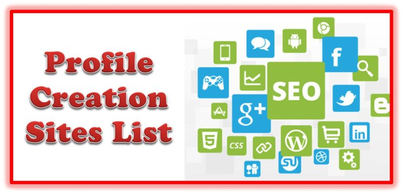 High DA 400 Free Profile Creation Sites List 2019 [Dofollow and Updated]