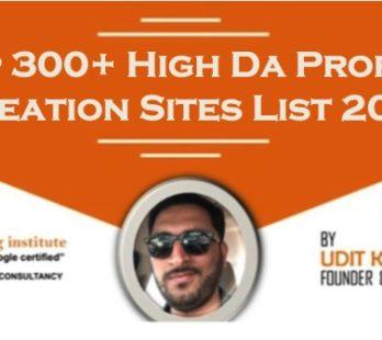 Top profile creation sites list