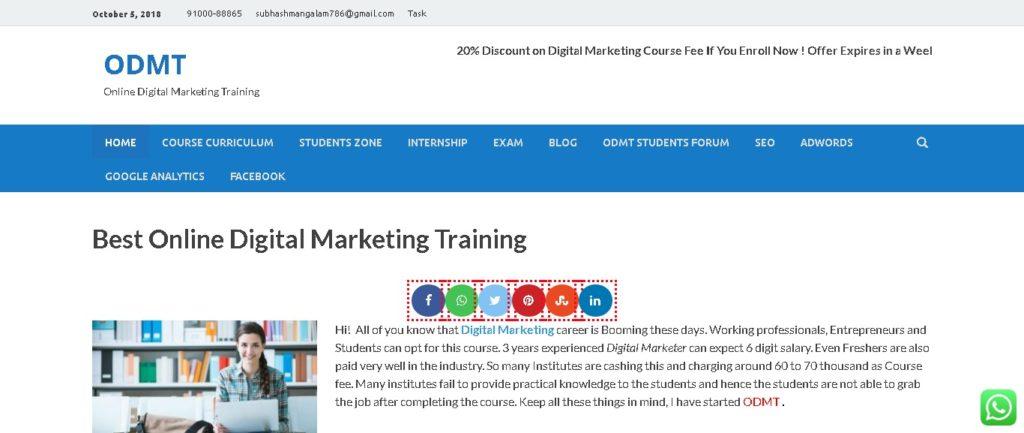 list of digital marketing training centers in Hyderabad