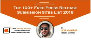 Press Release Sites List 2019