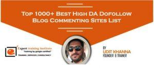 Blog Commenting Sites List 2019