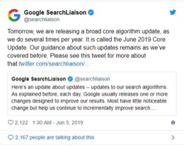 Google june core update
