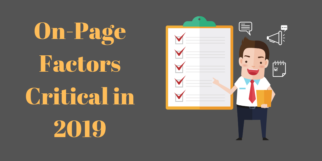 On-Page Factors Critical in 2019