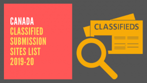 Canada Classified Submission Sites List