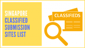 Singapore Classified Submission Sites List