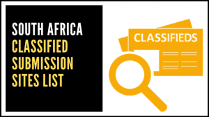 South Africa Classified Submission Sites List
