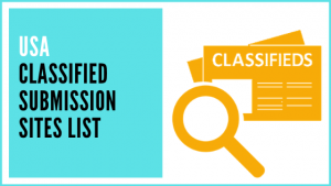 USA Classified Submission Sites List