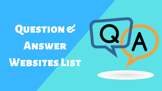 Question & Answer Websites List