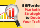 5 Effortless & Amazing Marketing Strategies to Double Your Traffic