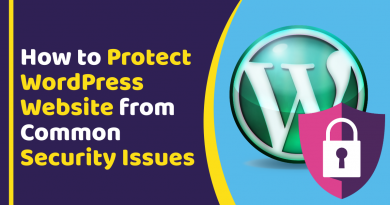 How to Protect WordPress Website from Common Security Issues