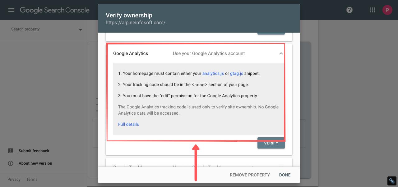 webmaster tools google analytics